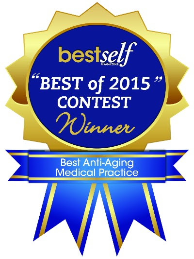 Best Anti Aging Medical Practice 2015 Contest Winner Badge